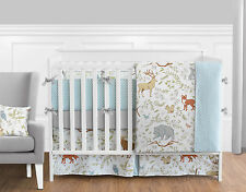 Sweet Jojo Gray White Elegant Animal Toile Unisex Girl Boy Baby Bedding Crib Set