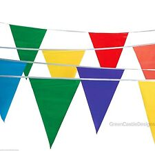 Pennant Flags 100 ft Banner String Streamers Multi Colored Party Carnival Decor