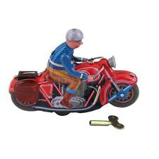 Vintage Wind Up Motorcycle Rider Clockwork Tin Toy Collectible Gift