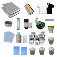 1 Color Silk Screen Printing Materials Kit w/ Squeegees Frames Spatulas 006812