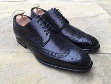 Hugo BOSS t-savilo Noir Chaussure Richelieu fabriqué en italie uk 8 usa 9 BNIB