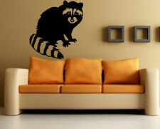 Wall Stickers Vinyl Decal Raccoon Funny Animal Nature ig138