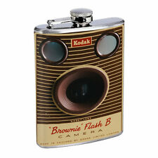 Retro Vintage Camera D16 8oz Hip Flask Stainless Steel Whiskey Classic Image
