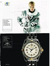Publicité Advertising 1998 La Montre Breitling Wings Lady