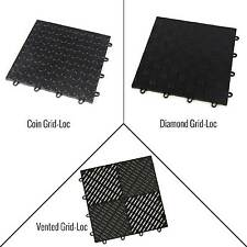 Incstores Grid-Loc Garage Tiles (12) 12in x 12in Diamond, Coin & Vented Flooring