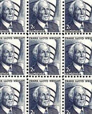 1966 - FRANK LLOYD WRIGHT - #1280 Full Mint -MNH- Sheet of 100 Postage Stamps