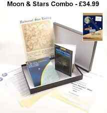 MOON & THE STARS COMBO PACK - NAME A STAR & OWN LAND ON THE MOON