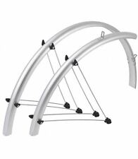 "SKS Bluemels 42mm 700 x 25-35c / 28"" Bike Full Fender Bicycle Mudguards SILVER"