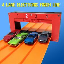 4 Lane Electronic Finish Line (For Hot Wheels Cars & Track) Raceway Gate