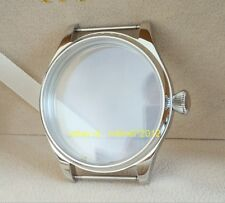44MM 316 stainless steel pilot watch case Sapphire Diamond shaped crown