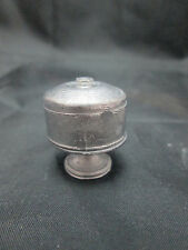 Dollhouse Miniature Unfinished metal Cake Stand with Cover