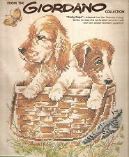 "Paragon Giordano ""Perky Pups"" Puppies Dogs Stamped Cross Stitch Kit"