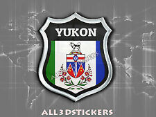 3D Emblem Sticker Resin Domed Flag Yukon - Adhesive Decal Vinyl