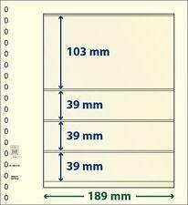 Lindner T-Blanko-Blätter mit vier Taschen im 10er Pack  Art.-Nr. 802 413