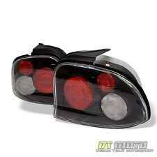 95-99 Dodge Neon Black Altezza Tail Lights Lamps Pair Left+Right Replacement