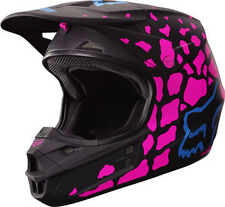 Fox Racing Adult V1 2017 Motocross Helmet Grav Women's Ladies Pink Black Large