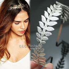 Roman Goddess Silver Leaf Branch Dainty Hair Crown Head Dress Alice Band Bridal
