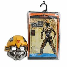 Costume Transformers Bumble Bee Muscle Chest Jumpsuit + Mask Boy S 4-6X NEW