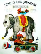 Spielzeug (Toy) Museum - Elephant original  poster c.1985 by OERTER