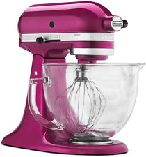 New KitchenAid Artisan Design Stand Mixer Raspberry Ice KSM155GBRI Cook 4 Cure
