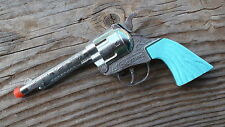 Cheyenne diecast metal 50 shot repeater cap gun pistol Turquoise Grips