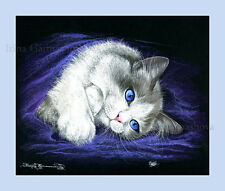 RAGDOLL CAT STAMPA Lazy CACCIA By Irina garmashova