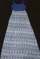 Womens Dress Small Blue Elephant Print Aztec Pattern NWT