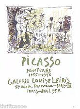 1991 Picasso Exhibition Poster Print Paintings 1955-56 Galerie Leiris Paris 1957
