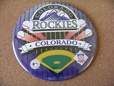"""Colorado Rockies large 6"""" button with tabletop stand for display"""