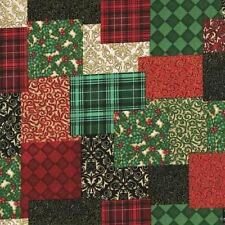 CHRISTMAS ELEGANCE PATCHWORK SAMPLER FABRIC