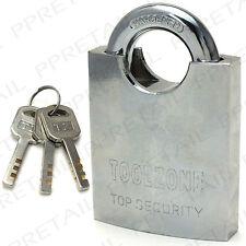 Grand 60mm fermé entraves cadenas ★ 3 clefs ★ porte en acier de haute qualité verrou de sécurité