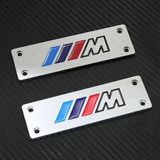 Fit For BMW All Models M-Tech Car Floor Mat Carpet Emblem Badge Pedals