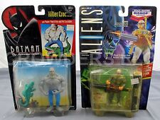 Batman Animated Series KILLER CROC & Aliens Space Marine Bishop Android Kenner