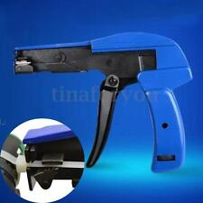 Blue Nylon Cable Tie Gun Installation Tensioning Fastener Plastic Zip Cutting