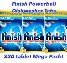 Finish POWERBALL Classic Lavastoviglie Compresse-MASSICCIO 330 Tablet Mega Pack!