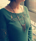 Boho Vintage Bronze Key Retro Long Chain Pendant Fashion Necklace Collar Jewelry