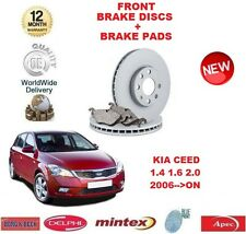 FOR KIA CEED 1.4 1.6 2.0 DT CRDi 2006-  FRONT BRAKE DISCS + DISC PADS SET