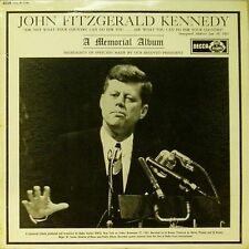 JOHN FITZGERALD KENNEDY 'A MEMORIAL ALBUM'' UK LP SPEECH HIGHLIGHTS