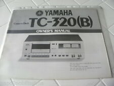 Yamaha TC-320 (B) Owner's Manual  Operating Instructions Istruzioni New