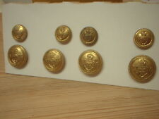 Royal Thames Yacht Club Military Brass Coat/Blazer Buttons Full Set