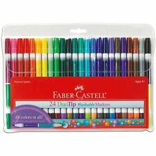 Faber-Castell-DuoTip Washable Markers-24 count-Premium Art Supplies (153024) NEW