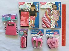 """A. Springfield/American Doll 18"""" PINK Doll Clothes & Accessories - Lot of 6 New"""