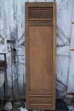 Antique Cabinet Pantry Door Oak Kitchen Vintage Chic Chimney Cupboard Louvered
