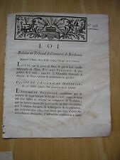 LOI relative au Tribunal de Commerce de Bordeaux 1792
