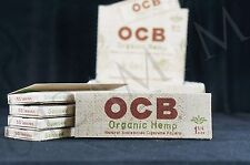 5 PACKS AUTHENTIC OCB ORGANIC HEMP 1 1/4 PAPERS NATURAL UNBLEACHED