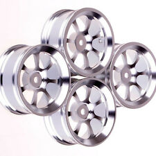 4× 1:10 model On-Road car Aluminum wheel rims Silver 7-spoke metal rim HSP 107S