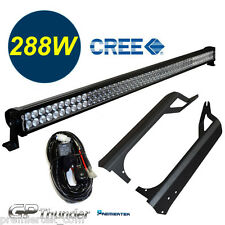 50in Off Road 288W LED Light Bar +Mounting Bracket+Relay Jeep TJ Wrangler 97-06