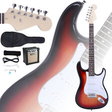 New Electric Guitar + 10W Amp + Gig Bag Case + Guitar Strap Beginners Sunset