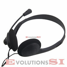 AURICULARES CON MICRO HEADSET PARA SKYPE MSN VOIP CHAT PC LAPTOP PORTATIL