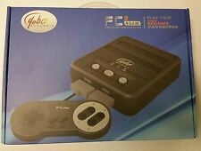 NEW BLACK YOBO FC TWIN 2 SLIM SYSTEM CONSOLE FOR NES & SNES GAMES USA VERSION